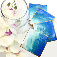 Load image into Gallery viewer, Ocean Waves Theme Coasters Set Of 4 - Mamota Creative