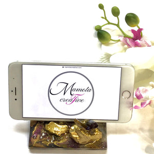 GEODE STYLE BUSINESS CARD OR SMARTPHONE HOLDER