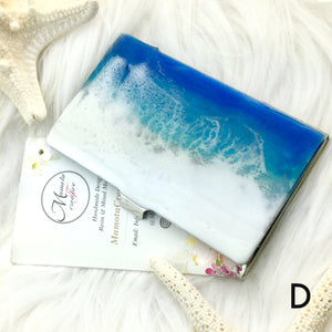 Ocean theme resin art business card case - Mamota Creative
