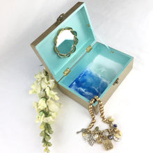 Load image into Gallery viewer, Champagne Jewelry Box with Seashells - Ocean Theme Resin Art