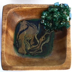 Cascade Geode Ring Dish - Assorted Colors