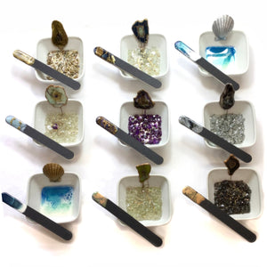 Manicure bowl and nail file sets and ring dishes  - Mamota Creative