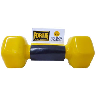 Mancuerna 5LBS Fortis DB2121 Vinilo Amarillo - FOR-DB2121-05.0