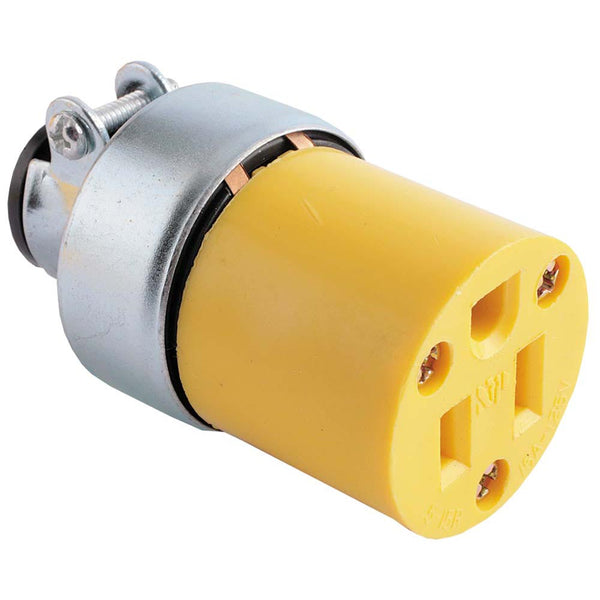 Toma para Cable Eagle 2887 15A Amarillo - EAG-2887