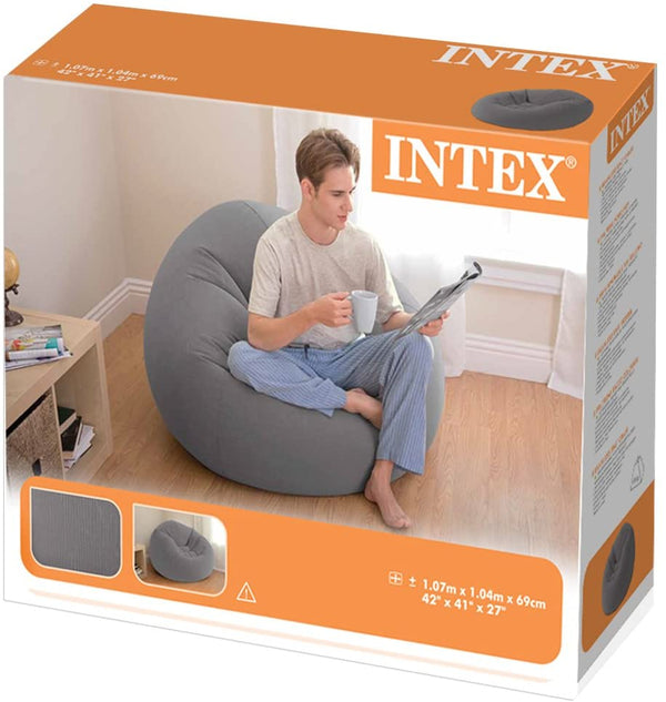 Sillón Intex 68579 Inflable Beanless Bag Gris - INT-68579
