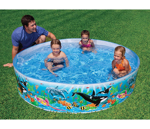 "Piscina Intex 58472 Deep Blue Sea Rígida Circular 244""x460"" - INT-58472"