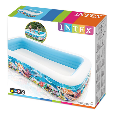 "Piscina Intex 58485 Tropical Reef Family Rectangular Inflable 305""x183""x56"" - INT-58485"