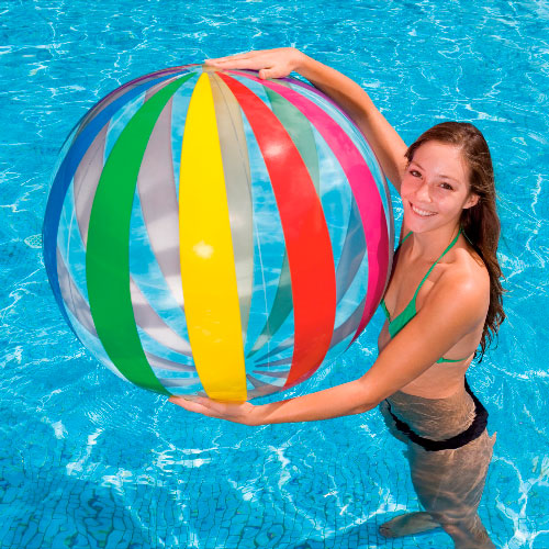 "Bola Jumbo Intex 59065 Inflable Multicolor 107"" - INT-59065"