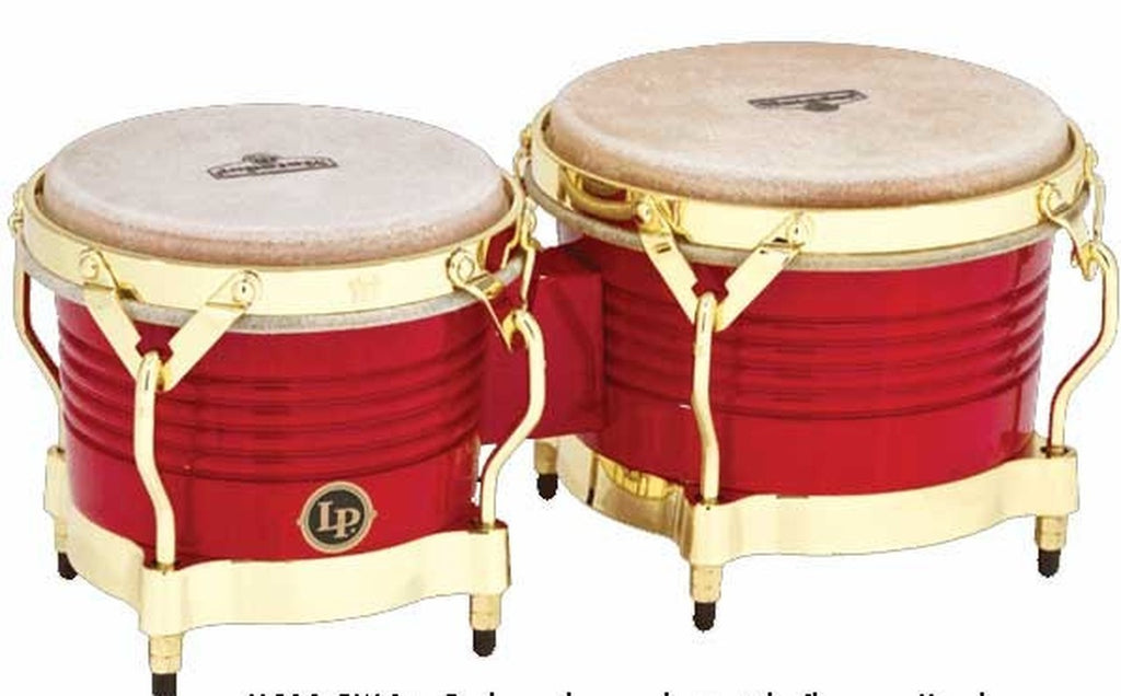 Bongo Matador M201RWC Latin Percussion Madera Red Chrome - LAT-M201-RWC