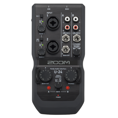 U-24 Handy Audio Interface Zoom Portátil - ZOO-U-24