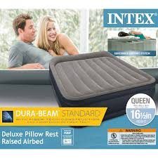 Colchón Queen Intex 64135 Inflable Dura Beam Pillow Rest - INT-64135