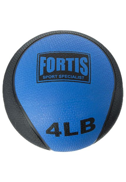 Bola Medicinal 4LBS Fortis MB6300 (Swiss Ball) Azul - FOR-MB6300-4.0