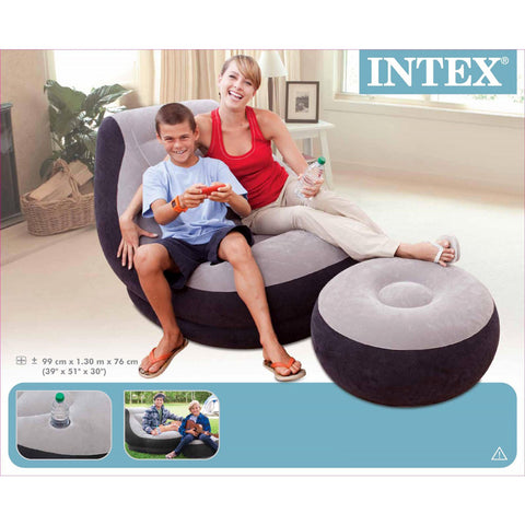 Sillón Intex 68564 Con Otoma Inflable - INT-68564