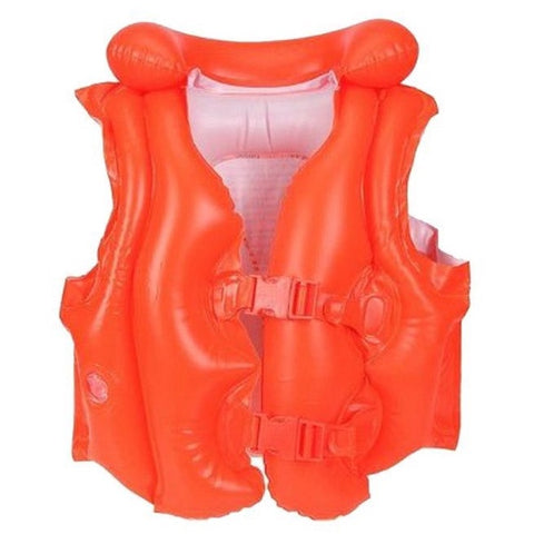 "Chaleco Intex 58671 Infantil Naranja Inflable 50""x47"" - INT-58671"