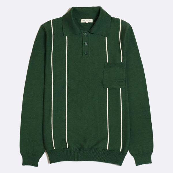 Far Afield - Alfaro Long Sleeve Polo - Green