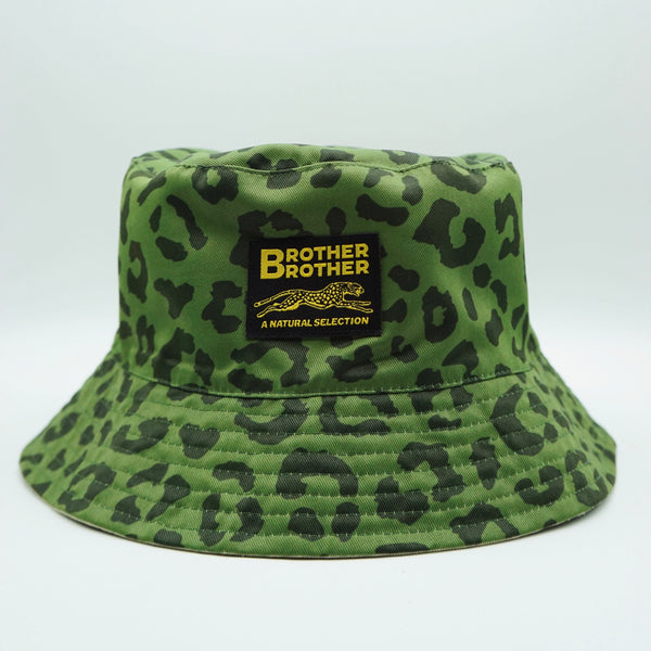 Brother Brother- El Gato Bucket Hat- Reversible Olive/Khaki