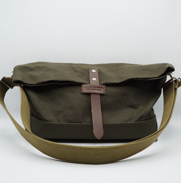 Heritage Leather Co.- Travel Shoulder Bag- Olive