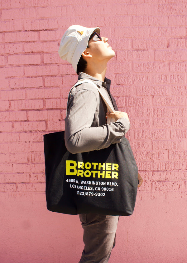 Brother Brother- Cheetah Tote- Black