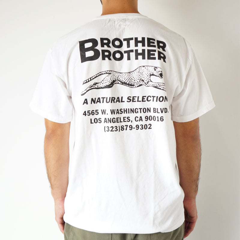 Brother Brother- Shop Tee- White w/blk