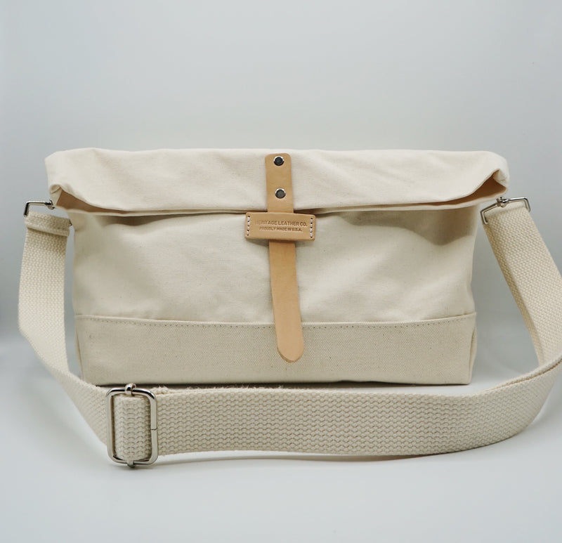Heritage Leather Co.- Travel Shoulder Bag- Natural