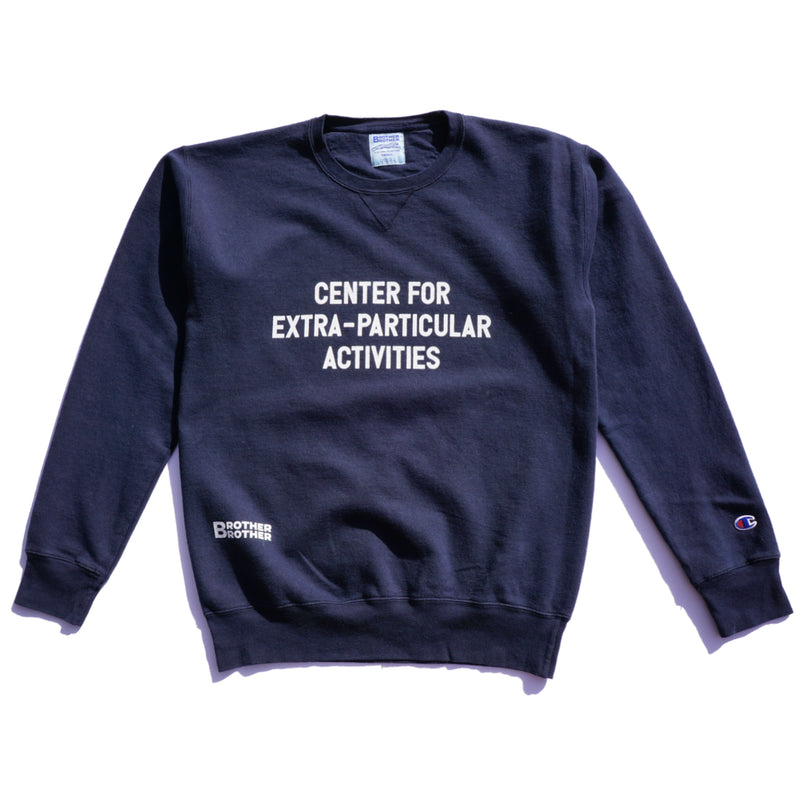 Brother Brother- Center Crewneck- Navy