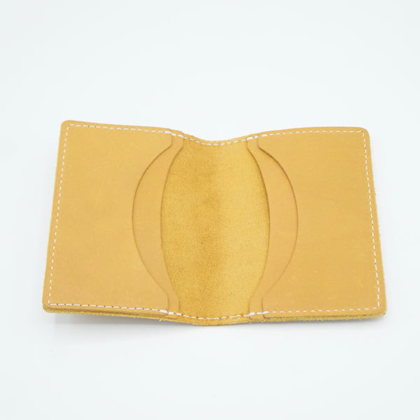 Heritage Leather Co.- Four Slot Pocket Wallet- Yellow