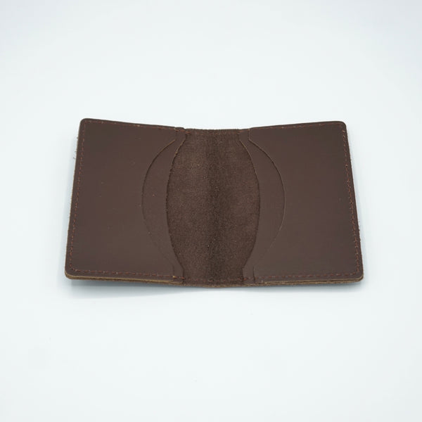 Heritage Leather Co.- Four Slot Pocket Wallet- Brown