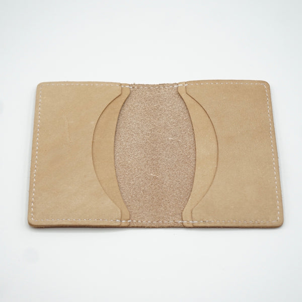 Heritage Leather Co.- Four Slot Pocket Wallet- Natural