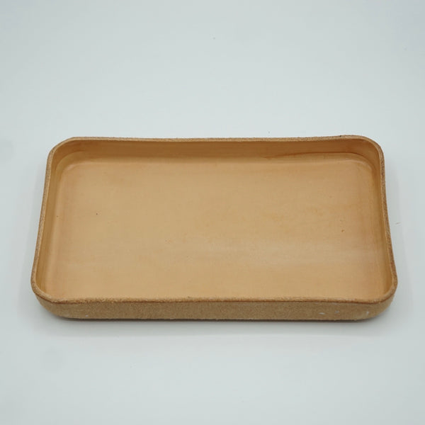 Heritage Leather Co.- Medium Leather Tray- Natural