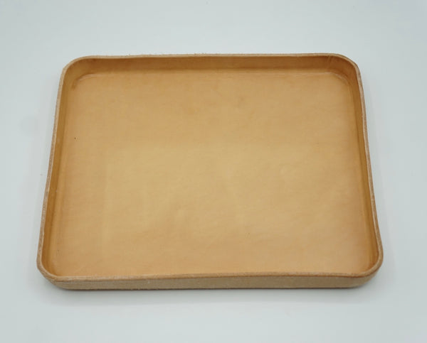 Heritage Leather Co.- Large Leather Tray- Natural