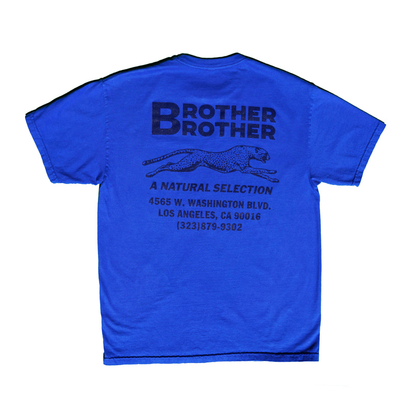 Brother Brother- Garment Dyed Shop Tee- Royal/Navy