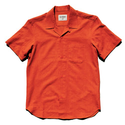 Kardo - Lamar Short Sleeve Shirt- Red Orange