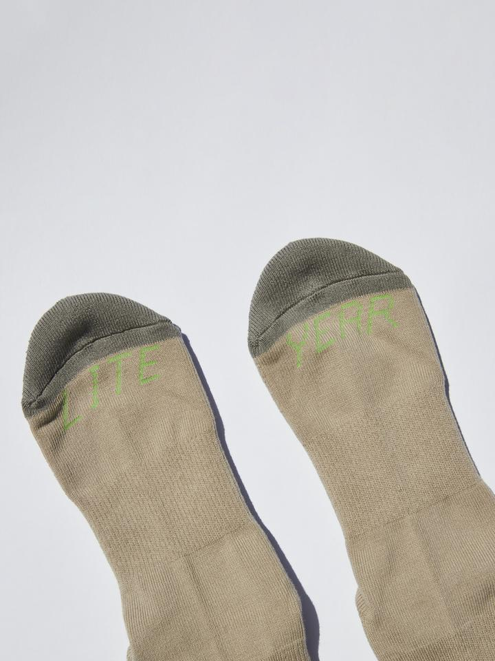 Lite Year - Druthers NYC Organic Cotton Socks - Lime/Khaki/Grey