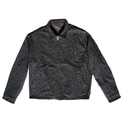 Brother Brother- Reversible Harrington Jacket- Grey/Cheetah