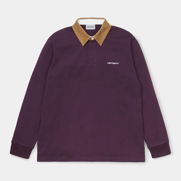 Carhartt WIP - Long Sleeve Rugby Polo - Boysenberry