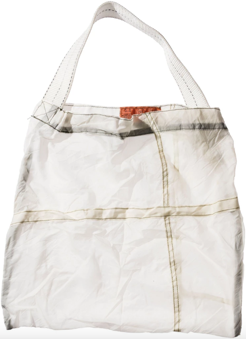 Puebco Japan Upcycled Parachute Bag- White