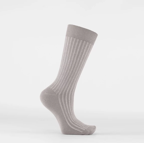Tailored Union- Luxe Socks- Grey/Silver