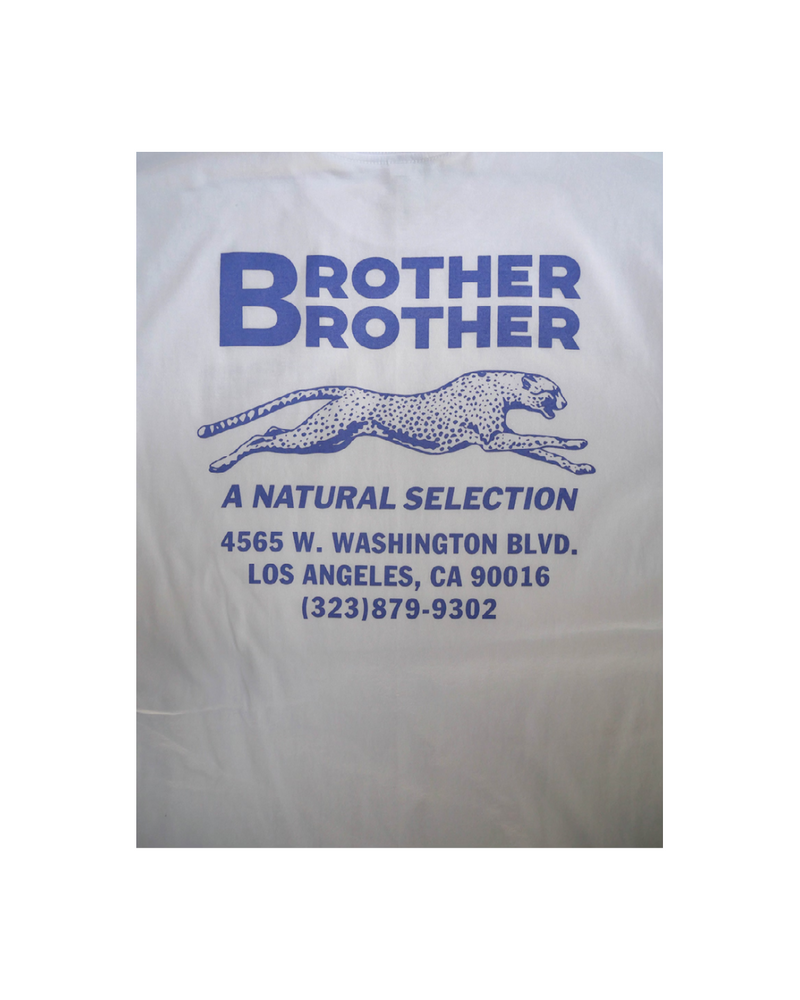 Brother Brother- Shop Tee- White w/Purple