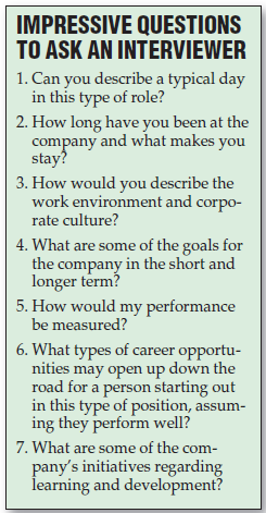 A list of questions you should ask during your job interview.