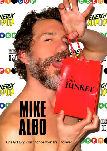 Anti-Bad-Mood Sprays will be in swag bags on opening night of THE JUNKET at Dixon Place in New York City is Mike Albo's new solo show.