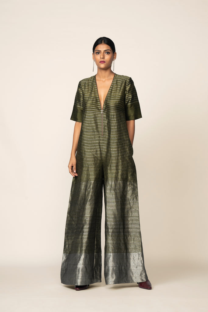 Handwoven Silk Jumpsuit
