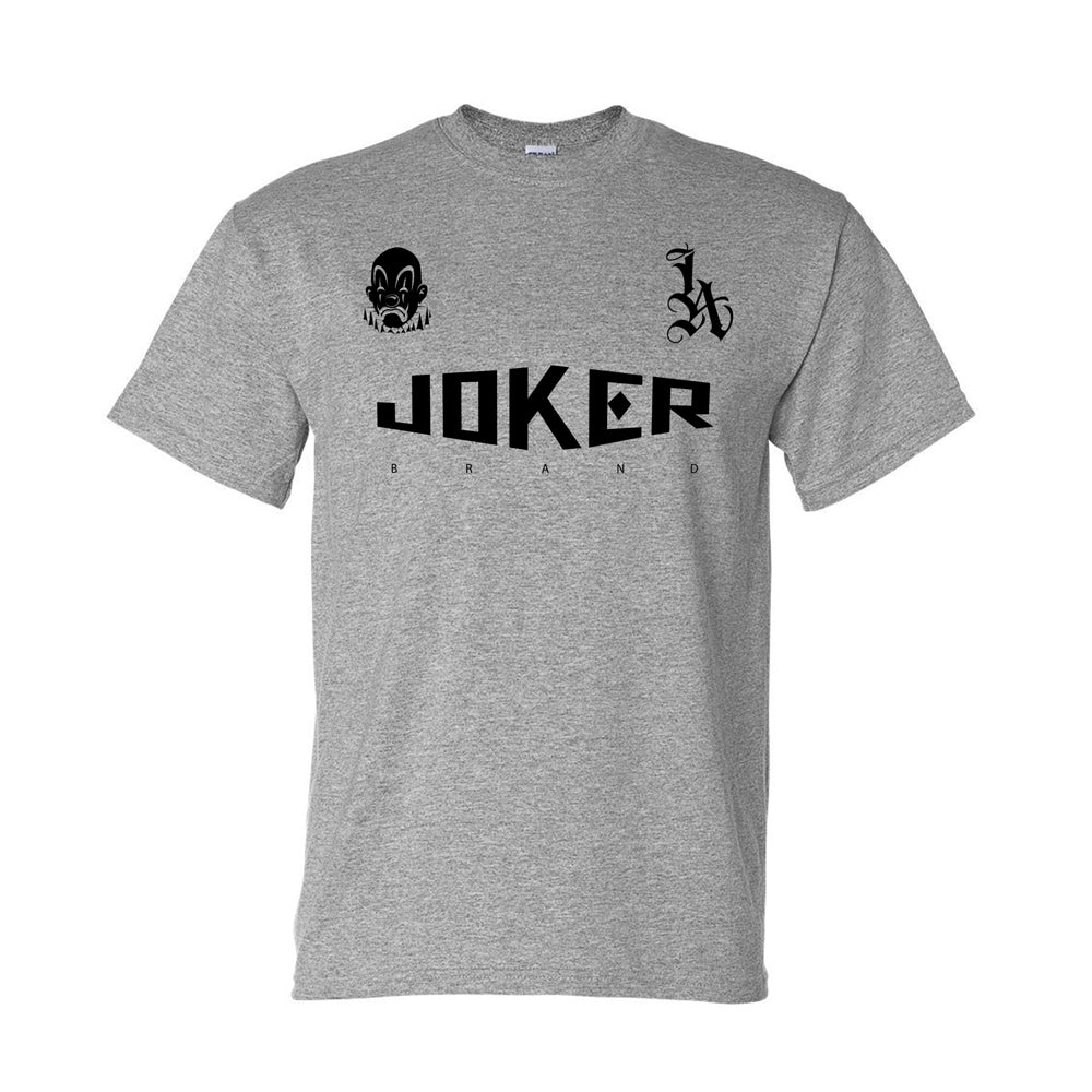 GREY HEATHER JOKER LA TSHIRT