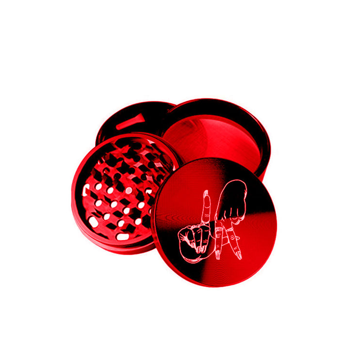 *LIMITED RED LA FINGERS WEED GRINDER