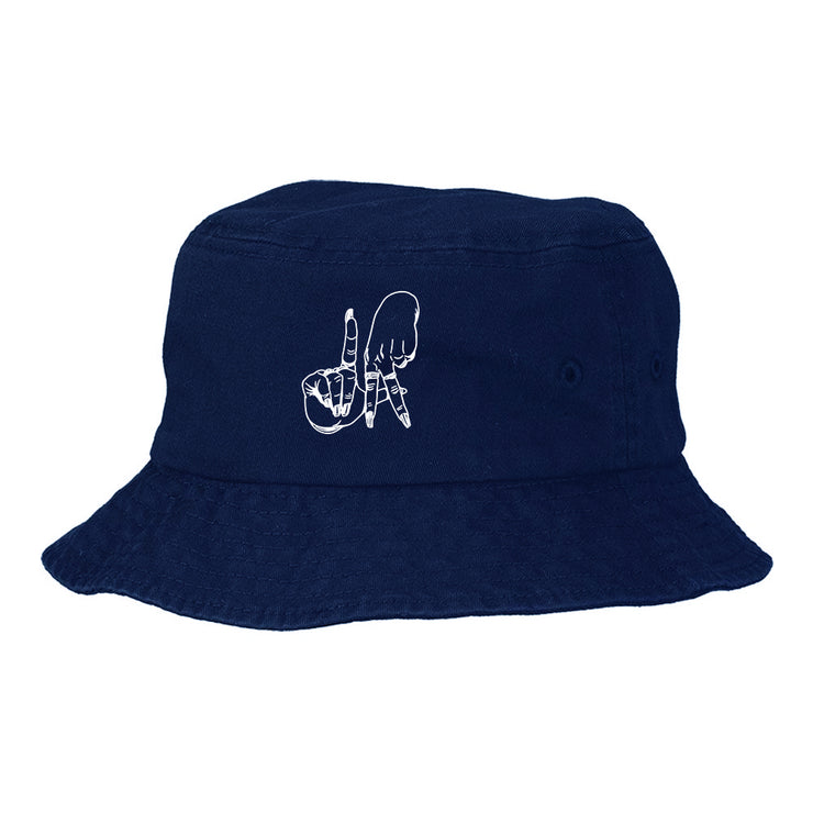LA FINGERS EMBROIDERED BUCKET HAT
