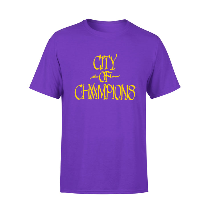 CITY OF CHAMPIONS TSHIRT - PURPLE