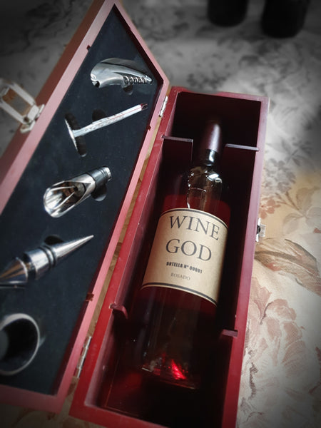 Pack regalo Wine God con caja y set sumiller