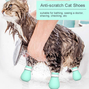 4Pcs Anti-Scratch Cat Shoes Paw Protector