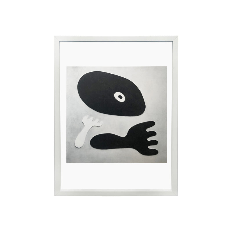 "Repro photo "" Nombril et Fourchette"" de Jean Arp"