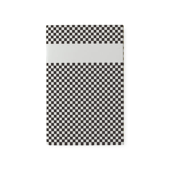 carnet de notes damier noir