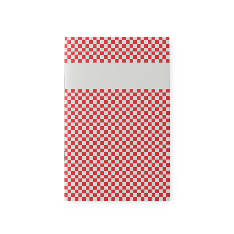 carnet de notes damier rouge